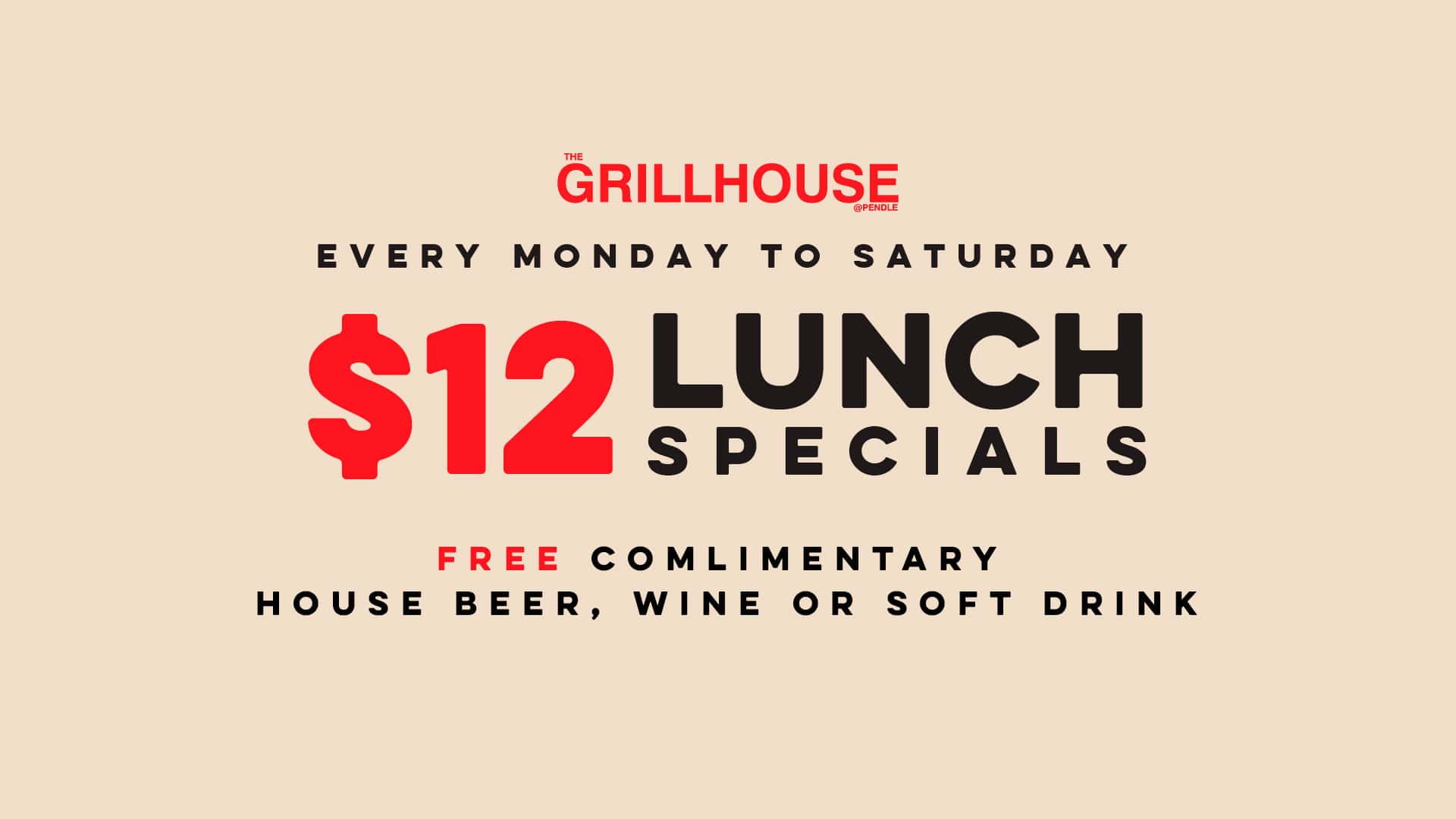 $12 Lunch Special
